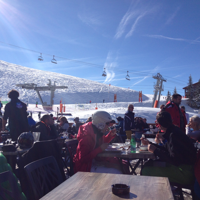 Lunch at the slopes of Courchevel