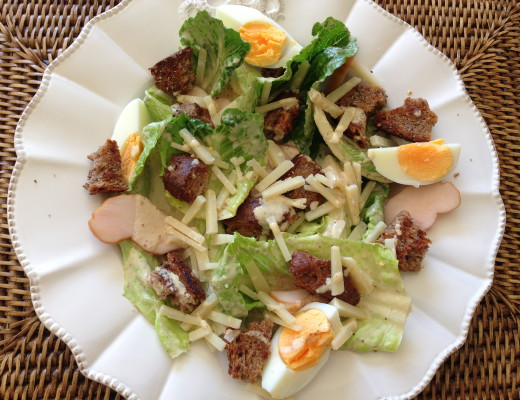 Caesar Salad is such a popular and well know dish all over the world. This is the simple recipe for a simple but delicious and original Caesar salad and Caesar dressing