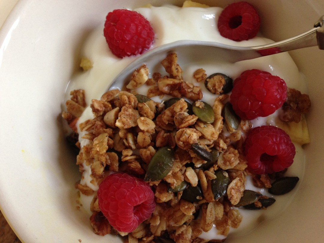delicious in yoghurt with fruit