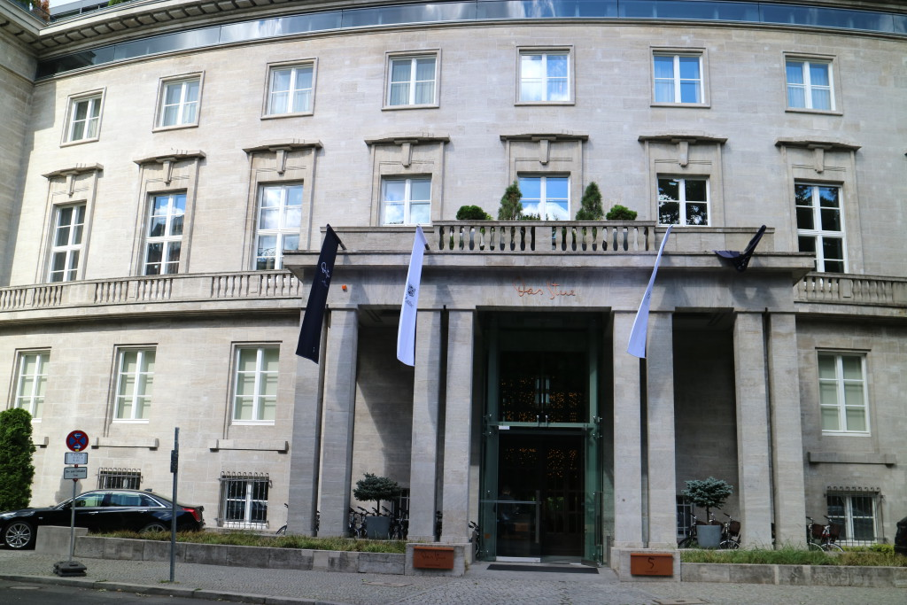 Das Stue Hotel in Berlin, Five star luxury, great food, spa, restaurant. Michelin star, Tiergarten