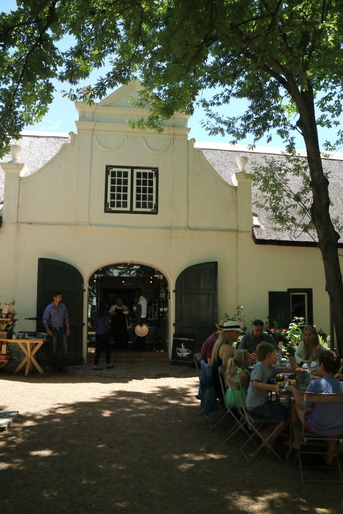 Boschendal Deli and Farm Shop restaurant. Franschhoek, South Africa