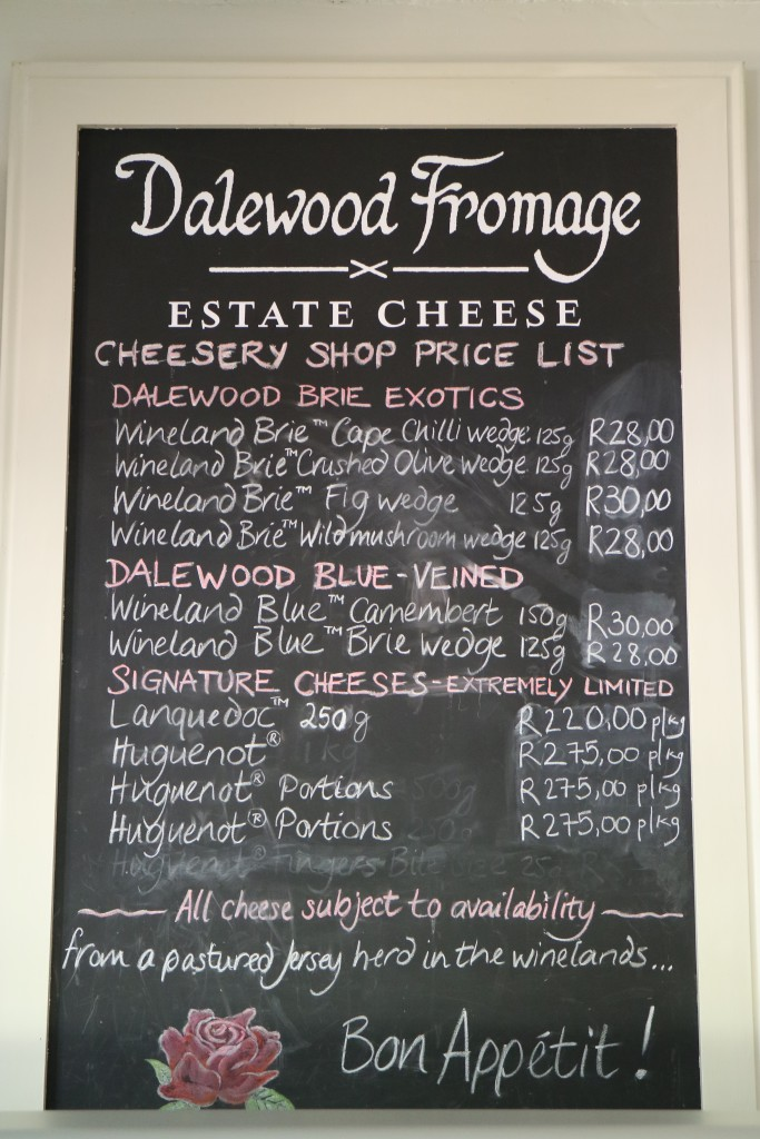Dalewood Fromage Estate Cheese Cheesery Shop, Simondium, Paarl, South Africa