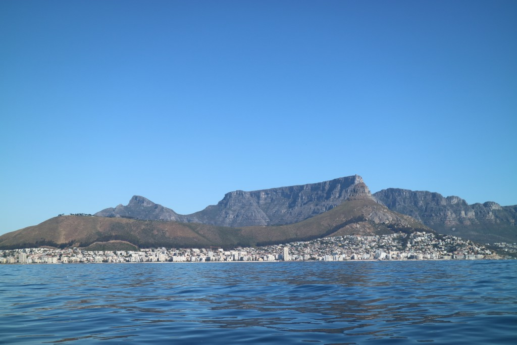 Cape Town seen from the sea, Cape Town, South Africa
