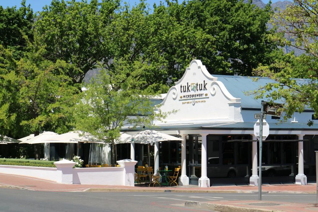 Pub, café and pre dinner drinks Franschhoek, South Africa, Cape Winelands