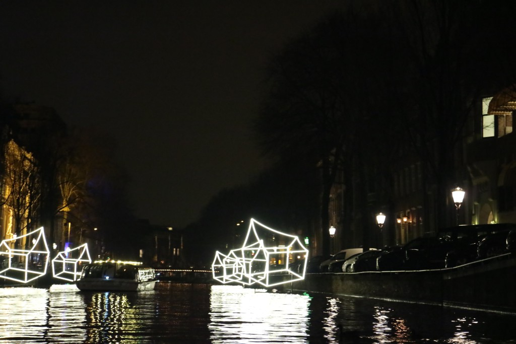 Amsterdam Light Festival on the shortest day of the northern hemisphere, December 2016
