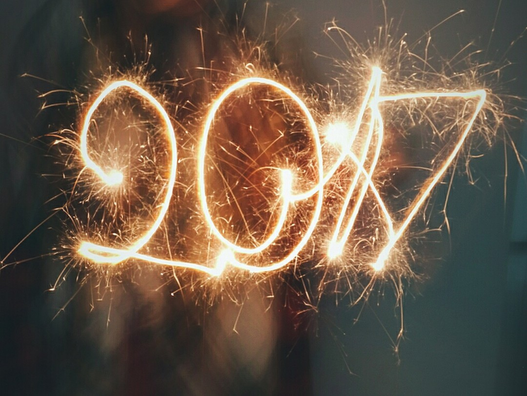 Happy new year - it's 2017, 1st of of January