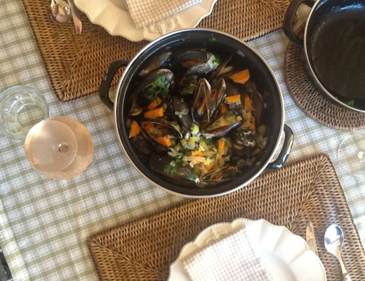 Mussels, the Belgium way, steamed in white wine