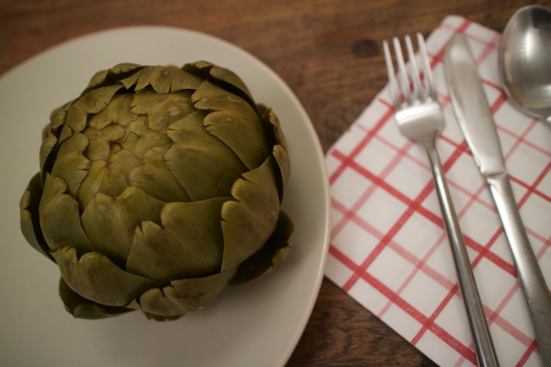 Artichokes and a fresh herby sauce