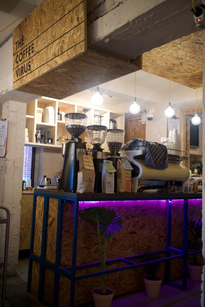 The Coffee Virus, Coffee bar and lunch cafe, A Lab building, Amsterdam Noord, Netherlands