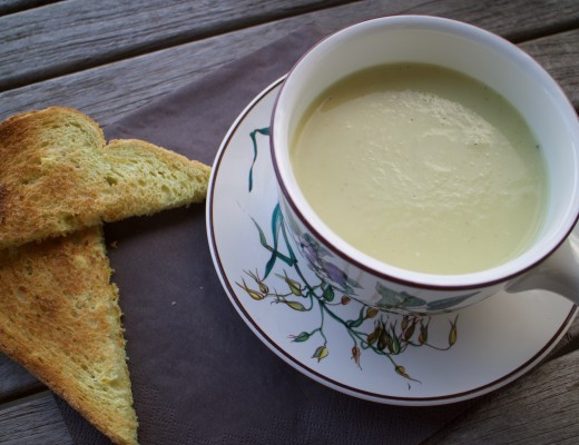 Parsnip ginger and horseradish soup