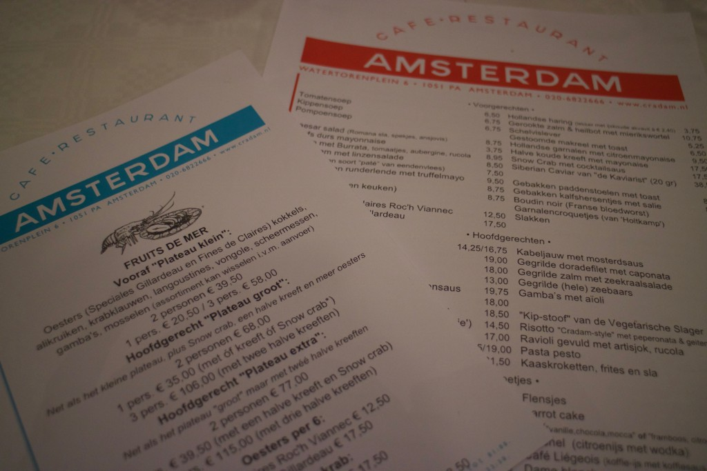 Cafe-restaurant Amsterdam, Amsterdam, The Netherlands