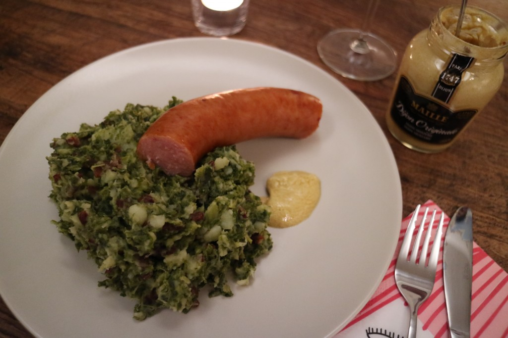 Kale potato mash, boerenkoolstamppot