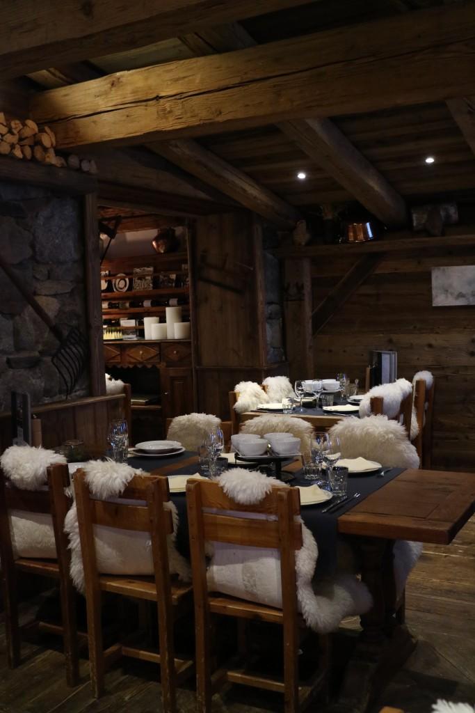 Chalet de la Marine, Val Thorens, les 3 Vallées, French Alpes, raclette, cheese, Swiss fondue