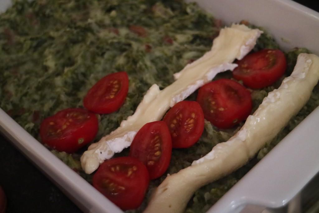boerenkool met brie en tomaat