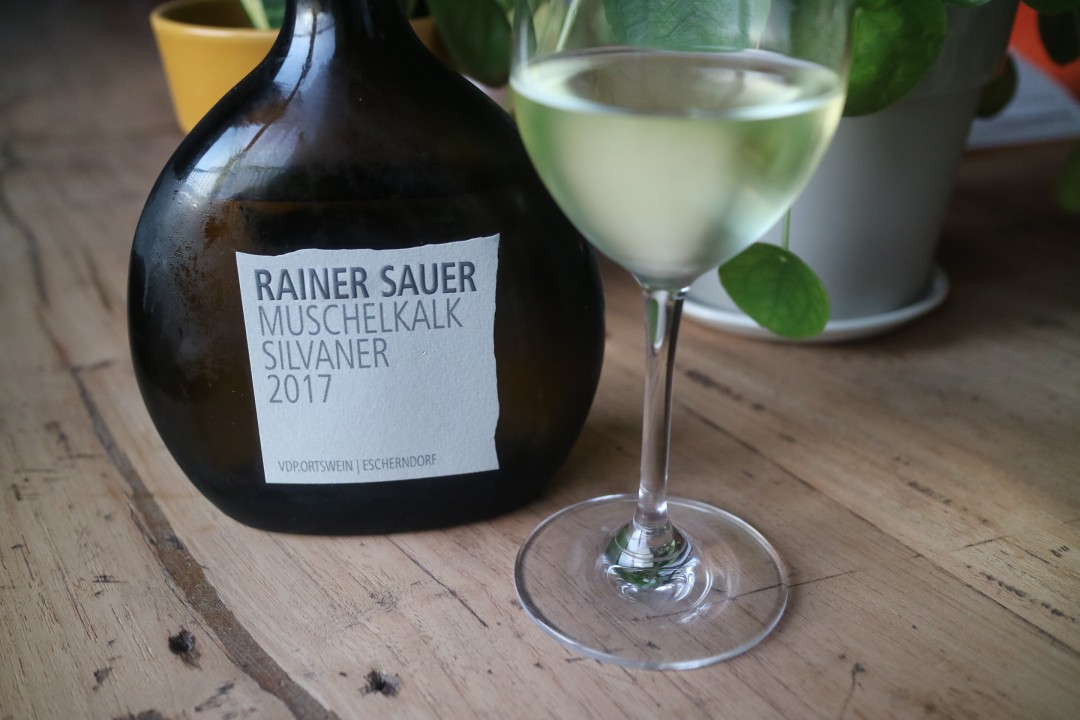 Rainer Sauer Muschelkalk silvaner 2017, Franken Duitsland Escherndorf, Mark van de Wijn